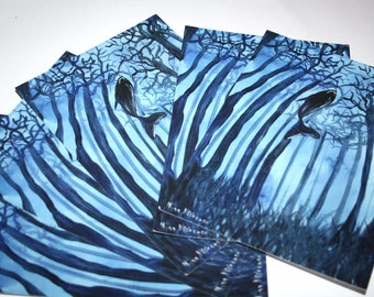 Set of 10 Whale Postcards 5 x 7 Animal Art Oceanic Art Whale Painting Whale Postcards
