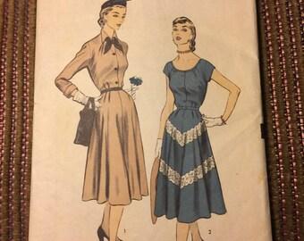 Vintage Advance Dress Pattern 5848 Size 12