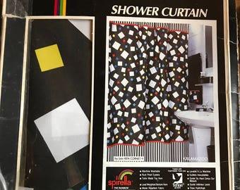 vintage shower curtain groovy groovy groovy spirella 70 x 72 vintage never used