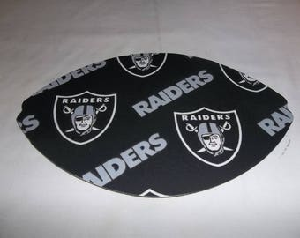NFL Oakland Raiders, Mouse Pad, Mouse Pads, Mousepad, Desk Accessories, Mouse Mat, Office Decor, Football Shape, Computer Mouse Pad, Gift