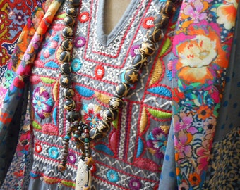 Tribal Art to wear, rare vintage beads, classic elegance