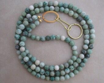 Ching Hai jade gold lanyard badge ID holder
