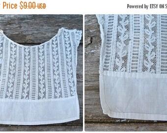 ON SALE Reserverd /reserverd/reserverd Vintage Antique  1900s Edwardian French cream lace cotton collar