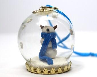SnowMonster Globe Ornament