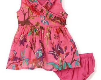 Pink Floral infant dress