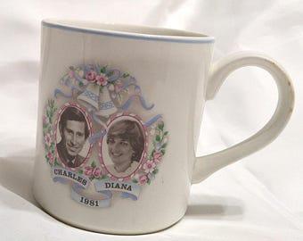 Charles and Diana Commemorative Mug