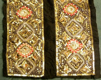 Sequin Embroidered Silk Matterial