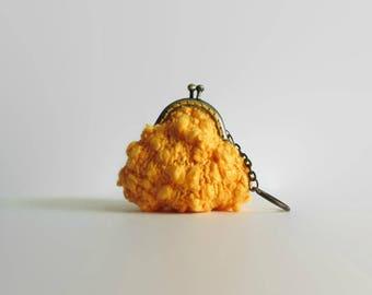 Yellow Coin Purse - Kiss Lock Clasp