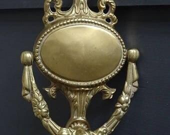 Beautiful Brass Door Knocker Roses Urn Floral