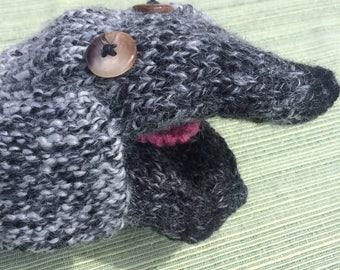Knit Puppets - Dog, Cat, Lion, Frog - Handmade puppet, animal puppet, children's puppet