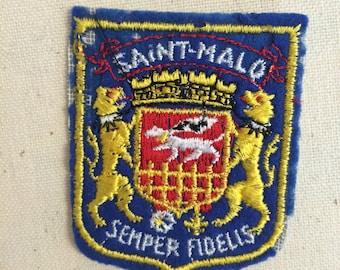Vintage Souvenir European Travel Patch Badge Applique Saint-Malo Brittany  France