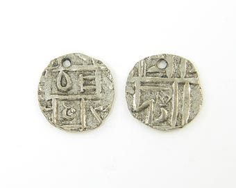 Tribal Antique Silver Coin Charms Bhutan Silver Coins |CN1-5|2