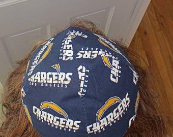 NFL Los Angeles Chargers kippah or yarmulke California football team yamaka Chargers kippah professional football gift < 20 dollars