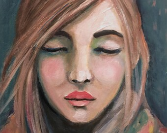 Just a Dream Away - Original Portrait Painting