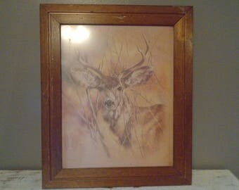 Home Interior Deer Picture | Vintage Home Interior Pictures Etsy