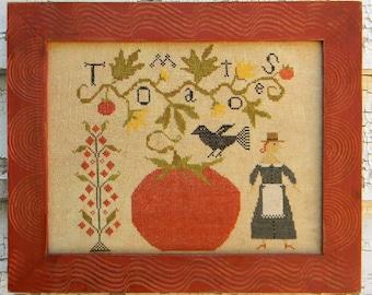Tomato Season - PDF/Download - Cross Stitch Chart - from Notforgotten Farm™