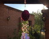 Custom Reserved for Suzanne Sea Turtle Amethyst Windchime