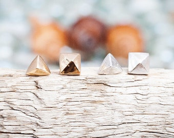 Sand Castle Studs | Sterling Silver or 14k Gold Studs