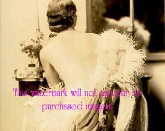Old Vintage Antique Glamour Showgirl Girl (5) Photo Reprint