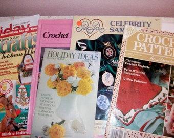 Six Crochet Holiday Counted Cross Stitch Crafts Martha Stewart Gifts ideas and patterns