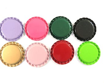 SALE - 18 Bottlecap Assortment Flattened Bottlecaps 34mm - 18 pc - MS11013BC-A18-M - LAST ONE
