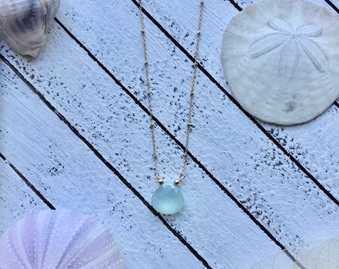 Chalcedony Goldfill Necklace