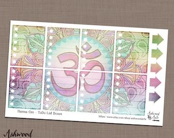 Hamsa Om Paisley Namaste Erin Condren Planner Stickers Weekly Kit