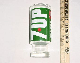 Vintage 60s 7 Up Uncola Wet & Wild Drinking Glass