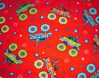 Monster Truck Fleece No-Sew Blanket