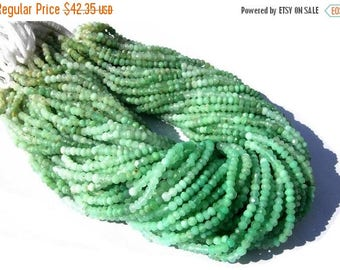 50% Off Sale 14 Inches Super Finest Natural Chrysoprase Micro Faceted Rondelles Size 3.5 - 4mm approx