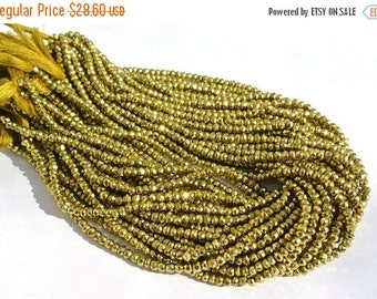 50% Off Sale Metallic Green Coated Pyrite Micro Faceted Rondelles Length 14 Inches Size 3.5mm approx