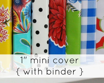 desktop planner - binder cover - recipe binder - oilcloth binder - a5 binder - binder cover - planner cover - school binder - 3ring binder