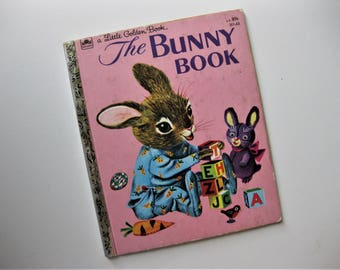 Vintage The Bunny book, a Little Golden Book, 1955, Illustrated by Richard Scarry