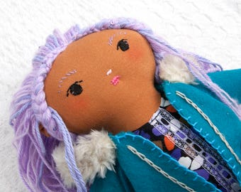 Purple and Teal Darling Doll