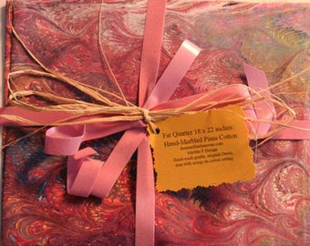 Valentine Special******Hand-Marbled Pima Cotton  Gift Wrapped