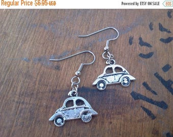 25% off Summer Sale Volkswagen Beetle Lovebug Earrings Sensitive Ears Surgical Steel