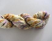 Golden Blossom.  Handpainted Vegan Cashmere Yarn
