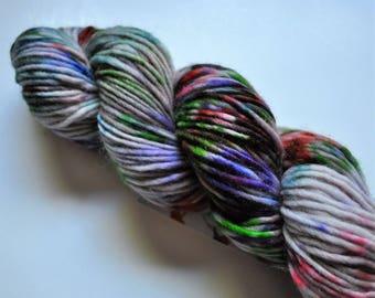 Wildflower.  Handpainted Wool Yarn Single ply Aran weight