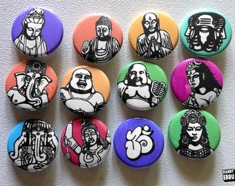 Danny Ebru button pin set