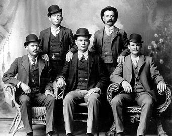Butch Cassidy And The Sundance Kid With The Wild Bunch 1900s Photo