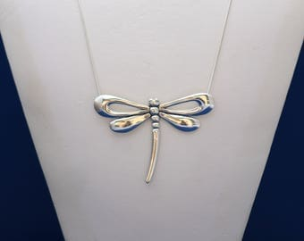 Dragonfly Necklace, Sterling Silver Dragonfly Necklace, Dragonfly Pendant, Dragonfly Jewelry, Dragonfly Charm, Insect Jewelry Nature 28