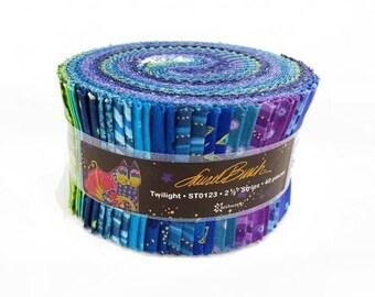 Laurel Burch Basic Twilight Strip Roll 40 2 1/2 inch strips Fabric