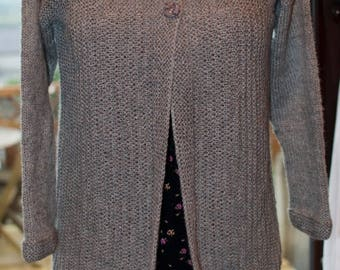 Christmas In July Handknitted Cardigan in Grey