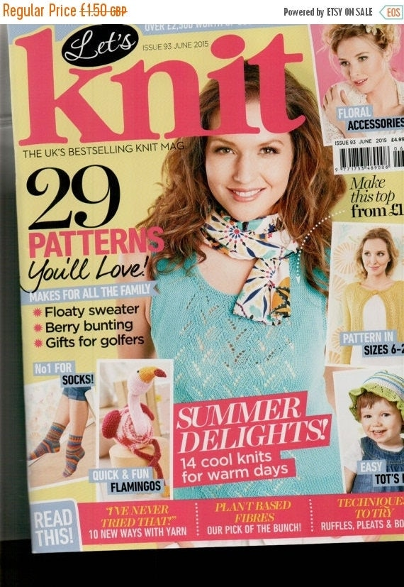 Christmas In July Let's Knit Knitting Magazine Issue 93 June 2015