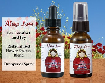 Comfort and Joy Flower Essence for Stress Reduction, Relaxation, Organic, Reiki-Infused Bach Flower Remedy, Dropper or Spray