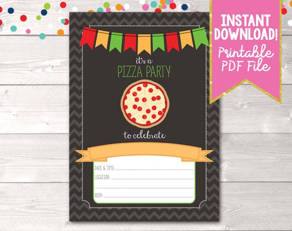 Instant download pizza party invitation pizza party birthday il570xn stopboris Choice Image