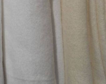 "Fabulous Flannel White & Off-White (natural) 100% Cotton Fabric napped both sides 1 yd x 54"" wide"