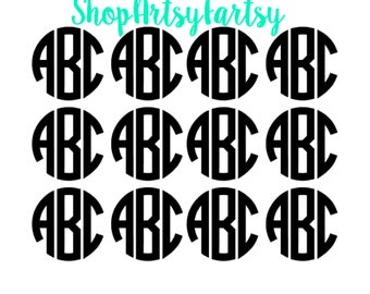 Monogram Sets in varying sizes & Quantities; perfect for laptops, car window, cell phones and more