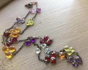 Gemstone Briolette Necklace