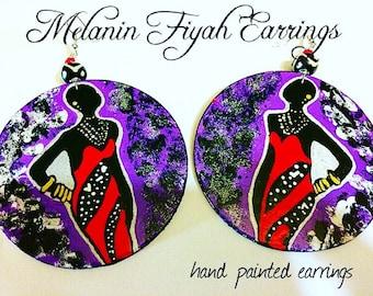 Melanin Fiyah Earrings